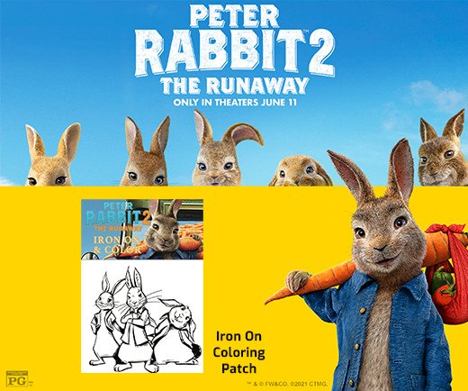 Peter Rabbit: The Runaway - Iron-On Coloring Patch