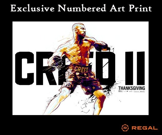 "Creed II - Regal Exclusive 13""x 19"" Numbered Art Print"