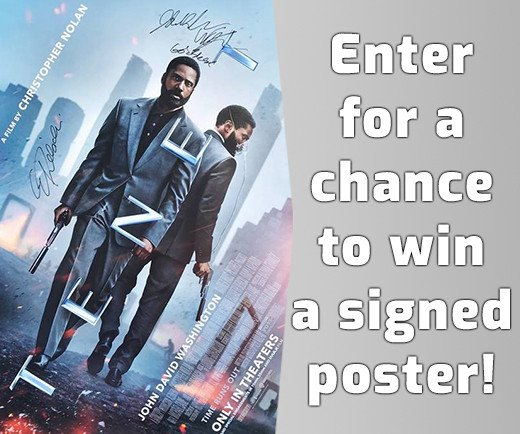 Tenet Signed Poster